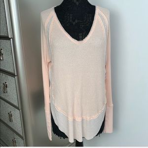 NWT We The Free Small Oversize Coral Thermal Top
